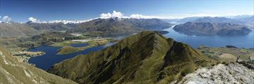 Panoramic View of Lake Wanaka, South Island NZ
