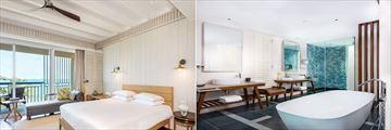 Park Hyatt St. Kitts, Sea View King Room Bedroom and Bathroom