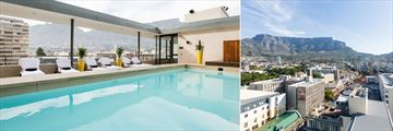 The rooftop pool and fabulous views at Pepperclub Hotel & Spa