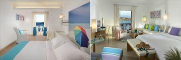 Standard Room and Deluxe Room at Petasos Beach Resort