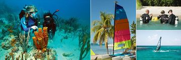 Petit St Vincent, Diving, Hobie Cat, Diving Lesson and Windsurfing - Courtesy of Jean-Michel Cousteau Diving