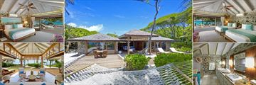 Petit St Vincent, Two Bedroom Beach Villa
