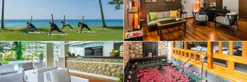 Phuket Marriott Resort & Spa, Merlin Beach, Yoga, Spa Reception, Spa Pool and Wellness Dining