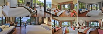 Pimalai Resort & Spa, Koh Lanta, Bayfront Deluxe Room, Deluxe Room, Deluxe Pavilion Suite Two Bedrooms, Beachside Private Pool Villa, Beach Villa and Pavilion Suite One Bedroom