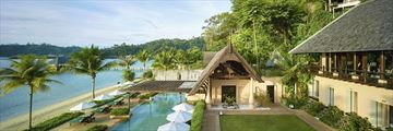 Gaya Island Resort, Pool and Beach