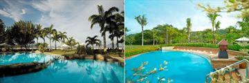 Pool Views at Shangri-La's Rasa Ria Resort & Spa