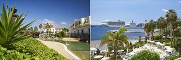 Promenade Bar and lounging areas at Porto Santa Maria
