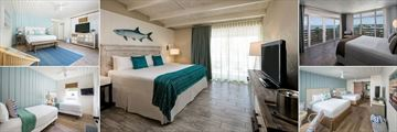 Postcard Inn Beach Resort & Marina, One Bedroom King Oceanfront Cottage, Classic King, Oceanfront Suite Two Bedrooms, Two Queens Resort View Cottage and Two Bedroom Two Twins Oceanfront Cottage