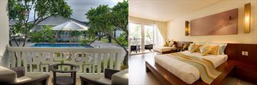Princess D'Annam Resort & Spa, Mandarin Villa Balcony Overlooking Pool and Bedroom