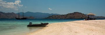 A secluded bay in the Komodo Islands