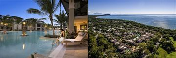 Pullman Port Douglas Sea Temple Resort & Spa, Pool in Evening and Aerial View of Resort
