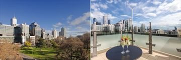 Radisson on Flagstaff Gardens, City View and Yarra River View from Rooftop