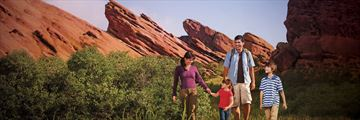 Family excploring Red Rock State Park, Arizona