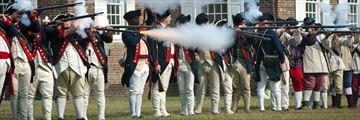 Colonial reenactment in Williamsburg, Virginia
