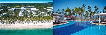 Riu Palace Bavaro, Aerial View of Resort and Pool
