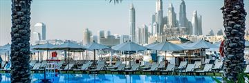 Views from the pool at Rixos The Palm Dubai Hotel & Suites
