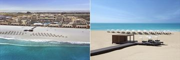 Saadiyat Rotana Resort & Villas, Aerial View of Resort and Beach