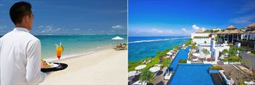 Samabe Bali Suites & Villas, Butler Service on Beach and Overlooking Resort and Pool