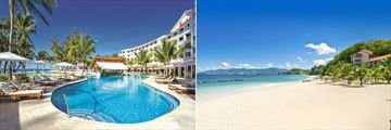 Sandals Barbados crystal lagoon pool & Sandals Grenada beachfront