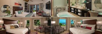 Sandals Halcyon Beach St. Lucia, Accommodation
