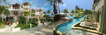 Sandals Negril Beach Resort & Spa, Beachfront Village Exterior and Lagoon Swim-Up Suites