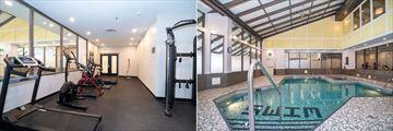 Sandman Hotel Calgary, Fitness Room and Pool