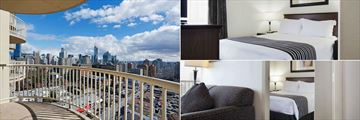 Sandman Suites Vancouver - Davie Street, Queen Suite with Sofa Bed City View