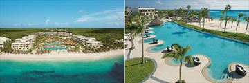 Secrets Akumal Riviera Maya, Aerial View of Resort and Oceanfront Pool and Beach