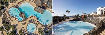 Aerial view of main pool and the adult pool at Secrets Lanzarote Resort & Spa