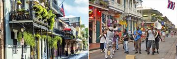 The French Quarter in New Orleans