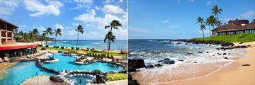 Ocean Pool and the Beach at Sheraton Kauai