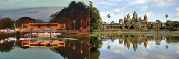 Siem Reap River & Angkor Wat