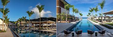 Pool views at Silversands Grenada
