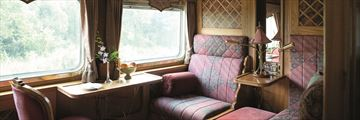 A cabin onboard the Venice Simplon-Orient-Express