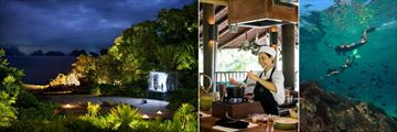 Six Senses Yao Noi, Cinema Paradiso by the Beach, Cooking Class and Snorkeling