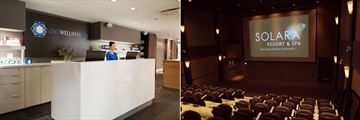 Solara Resort & Spa, One Wellness & Spa Reception and Aurora Theatre