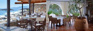 Blue Bay Beach Restaurant and Labyrinthos Restaurant at St Nicolas Bay Resort Hotel & Villas