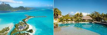St. Regis Bora Bora Resort, Aerial View of Resort and Main Pool