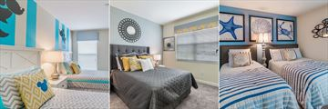 Kids Room, Master Bedroom and Twin Bedroom at Storey Lake Homes