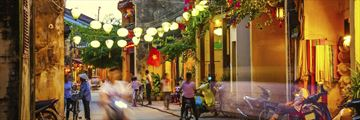 Streets of Hoi an Evening Vietnam
