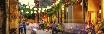 Streets of Hoi an Evening Vietnam