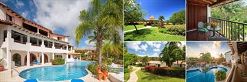 Sugar Cane Club Hotel & Spa, (clockwise from left): Pool, Garden, Garden View Room Patio, Pool and Gardens