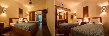 The twin rooms at Sukau Rainforest Lodge