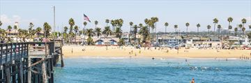 Newport Beach in the summer