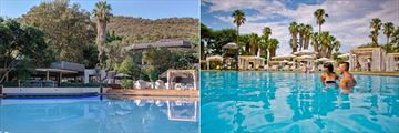 Sun City Cabanas, Pool and Pool Bar and Guests Swimming in the Pool