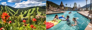 Sun Peaks Grand Hotel, Sun Peaks Resort and Hotel Pool in Summer