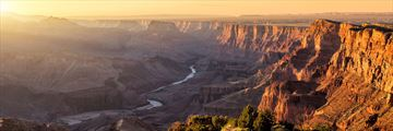 Sunset over Grand Canyon, Arizona