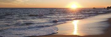 Sunset over Malibu beach