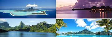 Gorgeous views of Bora Bora and Moorea