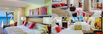 Ocean Front Room, Ocean View Junior Suite and Ocean Front Room with Sleeper Bed at Tamarind by Elegant Hotels